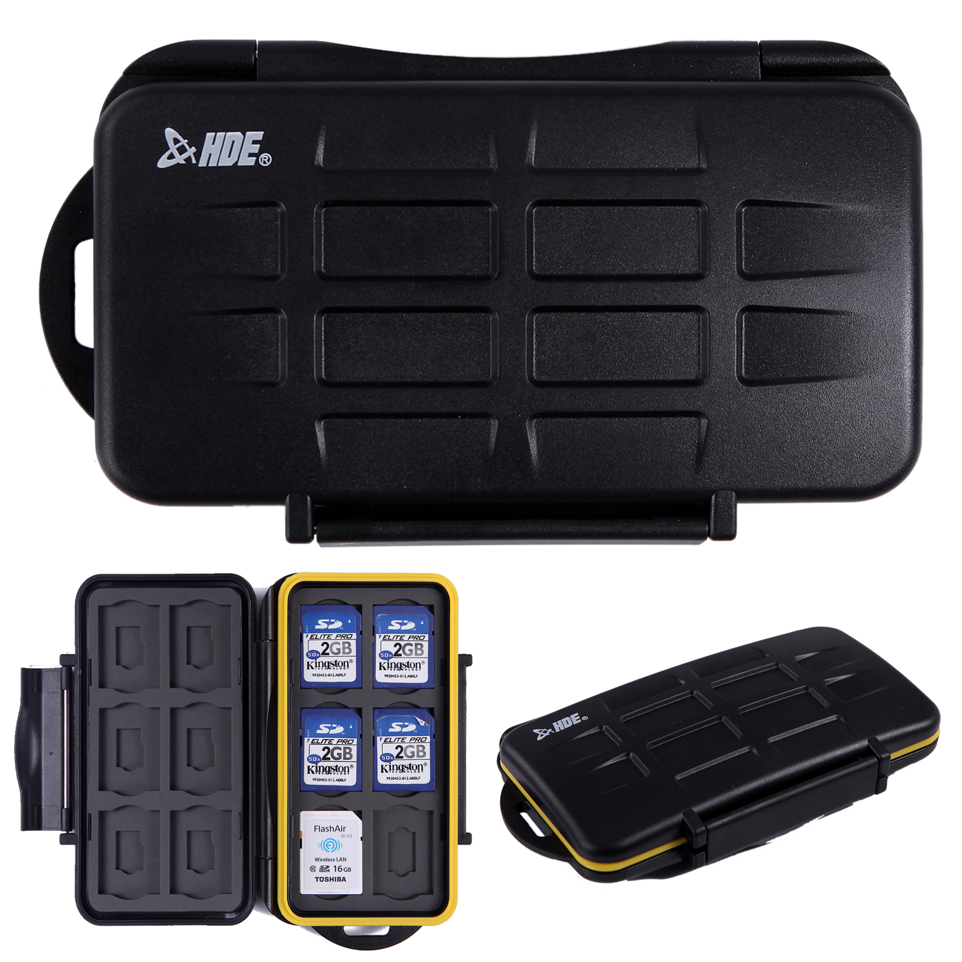 HDE Waterproof Memory Card Travel Case for 12 Micro & Standard SD Card Storage Holder …