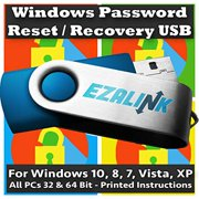 Windows Password Reset Recovery USB for Windows 10, 8.1, 7, Vista, XP | #1 Best Unlocker Software Tool {For Any PC Computer}