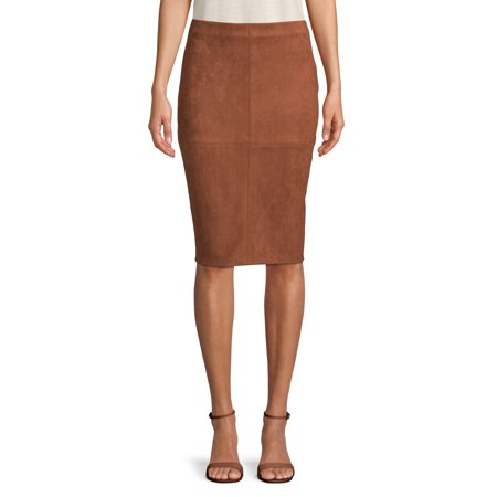 Women's Faux Suede Pencil Skirt