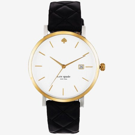 KSWB0125 Women's Black Leather Band With White Analog Dial Watch NWT ()