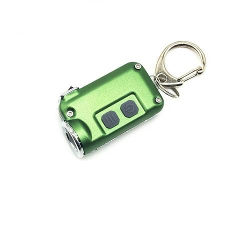 Aluminum Alloy Mini LED Camping Flashlight Torch Keyring Keychain BS