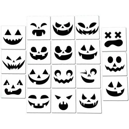 Elsa Halloween Pumpkin Stencils (Halloween Pumpkin Jack o'Lantern Airbrush Spray Painting Stencil Kit (18)