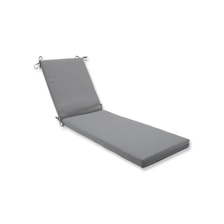 Pillow Perfect Outdoor Indoor Tweed Gray Chaise Lounge Cushion 80x23x3