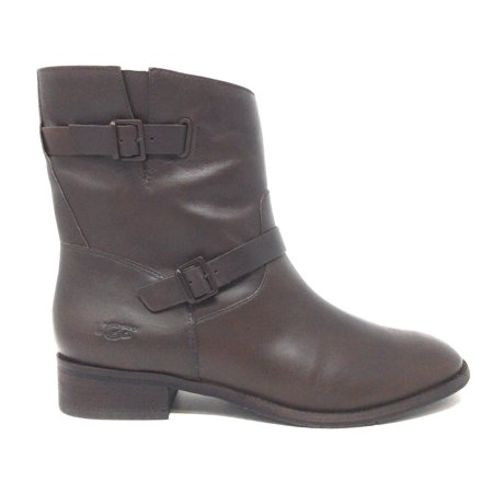 UGG Womens Fletcher Motorcycle Short Boot Water Resistant Brown Leather Size 8