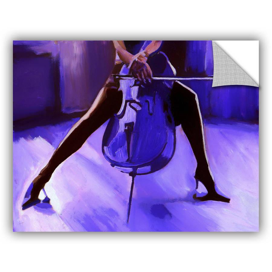 "ArtAppealz Vel Verrept ""Cello "" Removable Wall Art"