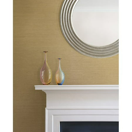 Brewster Home Fashions Chika Grasscloth 24' x 36'' Solid Roll Wallpaper