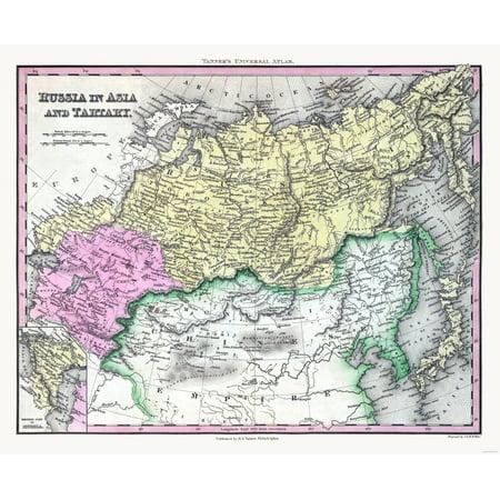 International Map Russia Asia Tartary Tanner 28 02 X 23