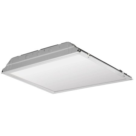 Lithonia Lighting 20 Watt Matte White Integrated Led Lay In Troffer 2 Ft X Prismatic Lens