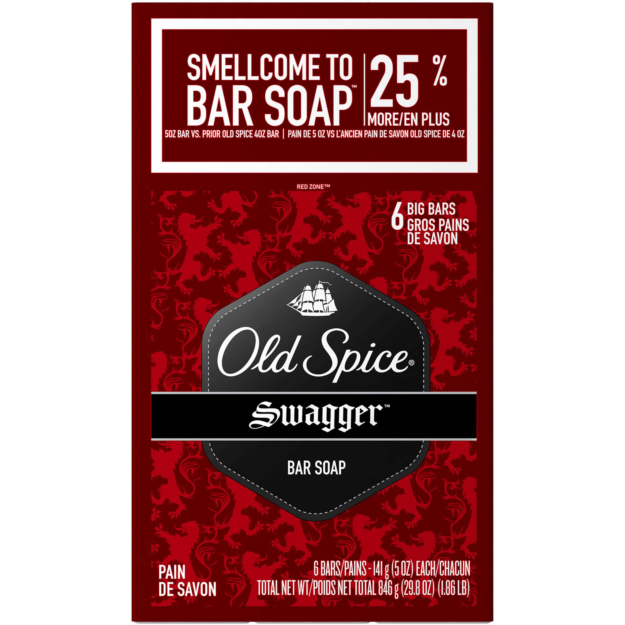 Old Spice Swagger Bar Soap, 4 oz, 6 count