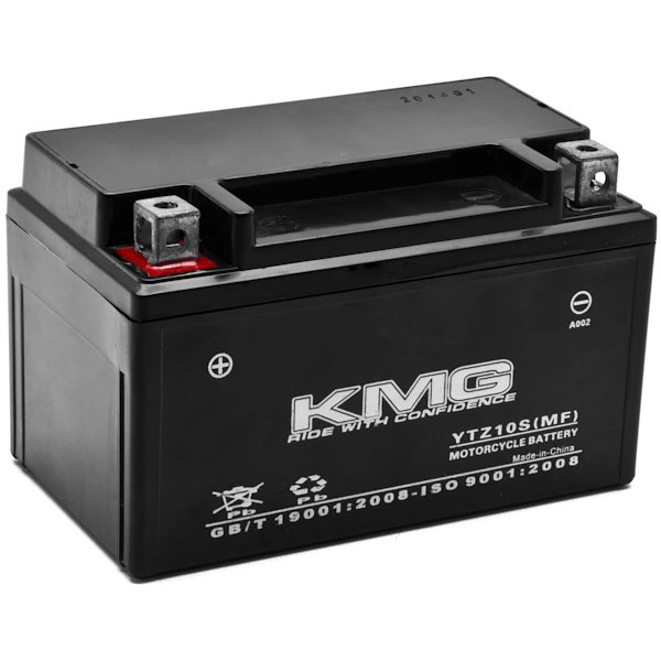 KMG Yamaha 800 FZ8 2011-2012 YTZ10S Sealed Maintenace Free Battery High Performance 12V SMF OEM Replacement Maintenance Free Powersport Motorcycle ATV Scooter Snowmobile KMG