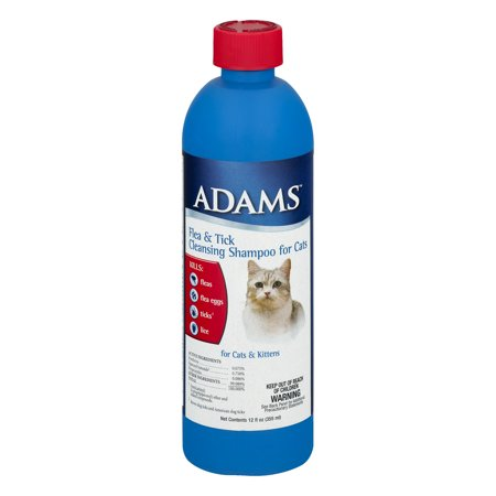 Adams Flea & Tick Cleansing Shampoo for Cats & Kittens 12