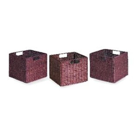 Wicker Baskets Set Of 3 Walmart Com