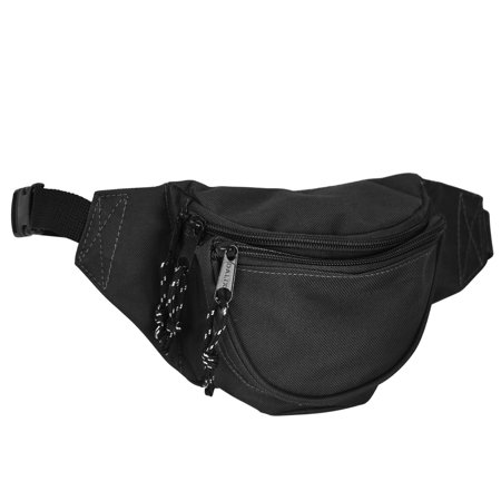 DALIX Small Fanny Pack Waist Pouch S XS Size 24 to 31 in Black](Fanny Packs In Bulk)