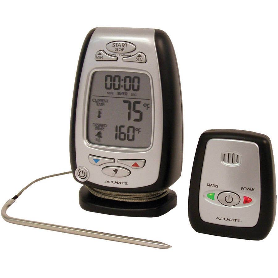 AcuRite Digital Meat Thermometer and Timer with Pager