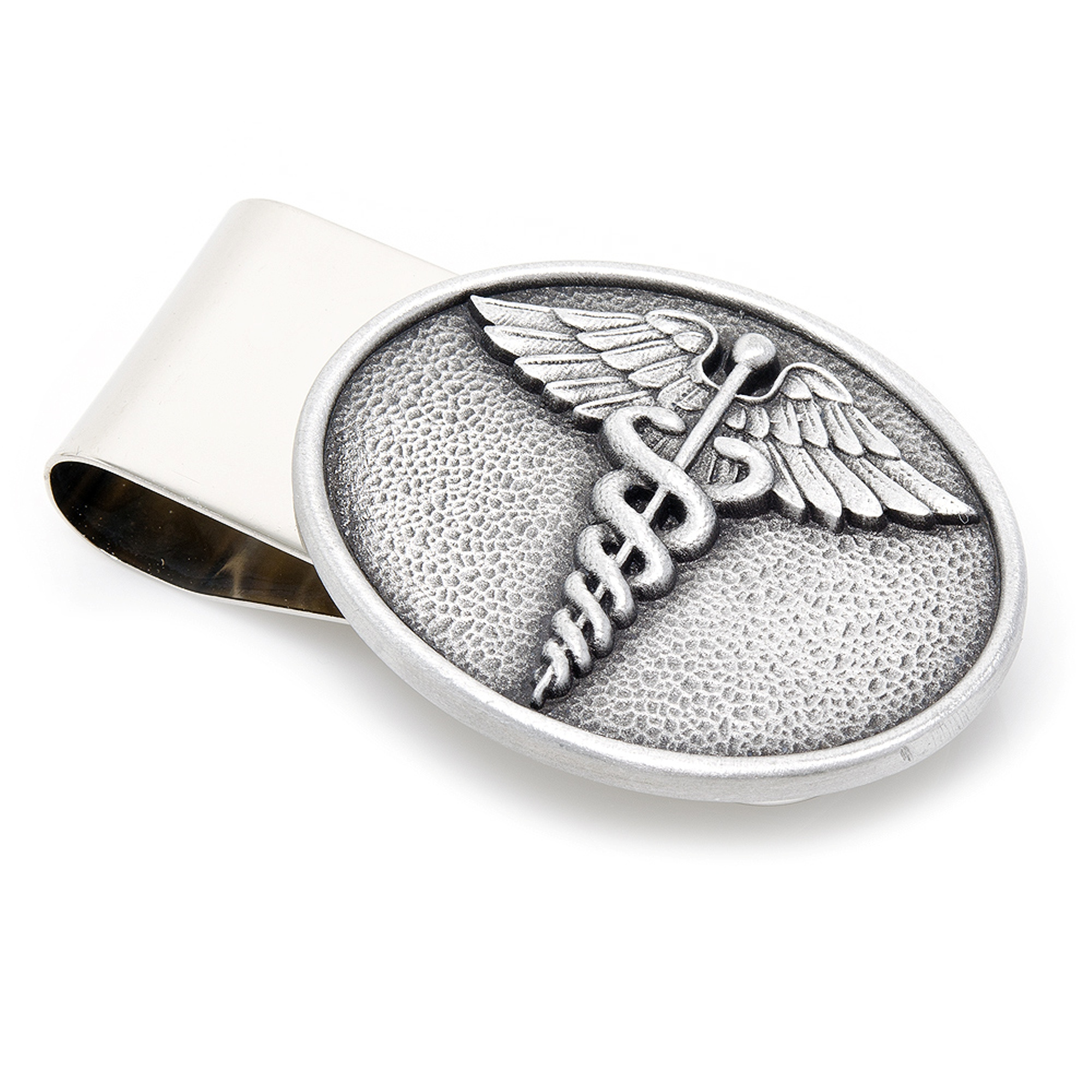 Mens Plated Pewter Scales of Justice Money Clip MC10322 NEW