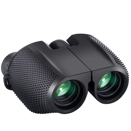 Reactionnx Small Lightweight Binoculars for Adults/Kids, 10x25 Compact Binoculars Hunting Best Bird Watching Glasses Quality Travel Night Vision Portable HD Binoculars for Concerts Hunting (Best Size Binoculars For Birding)
