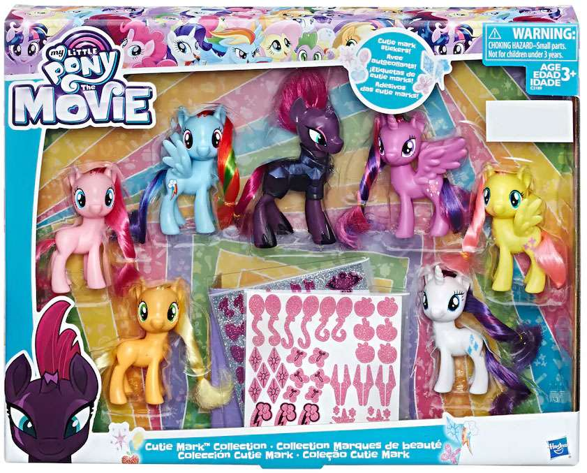 My Little Pony The Movie Cutie Mark Collection Figure Set by