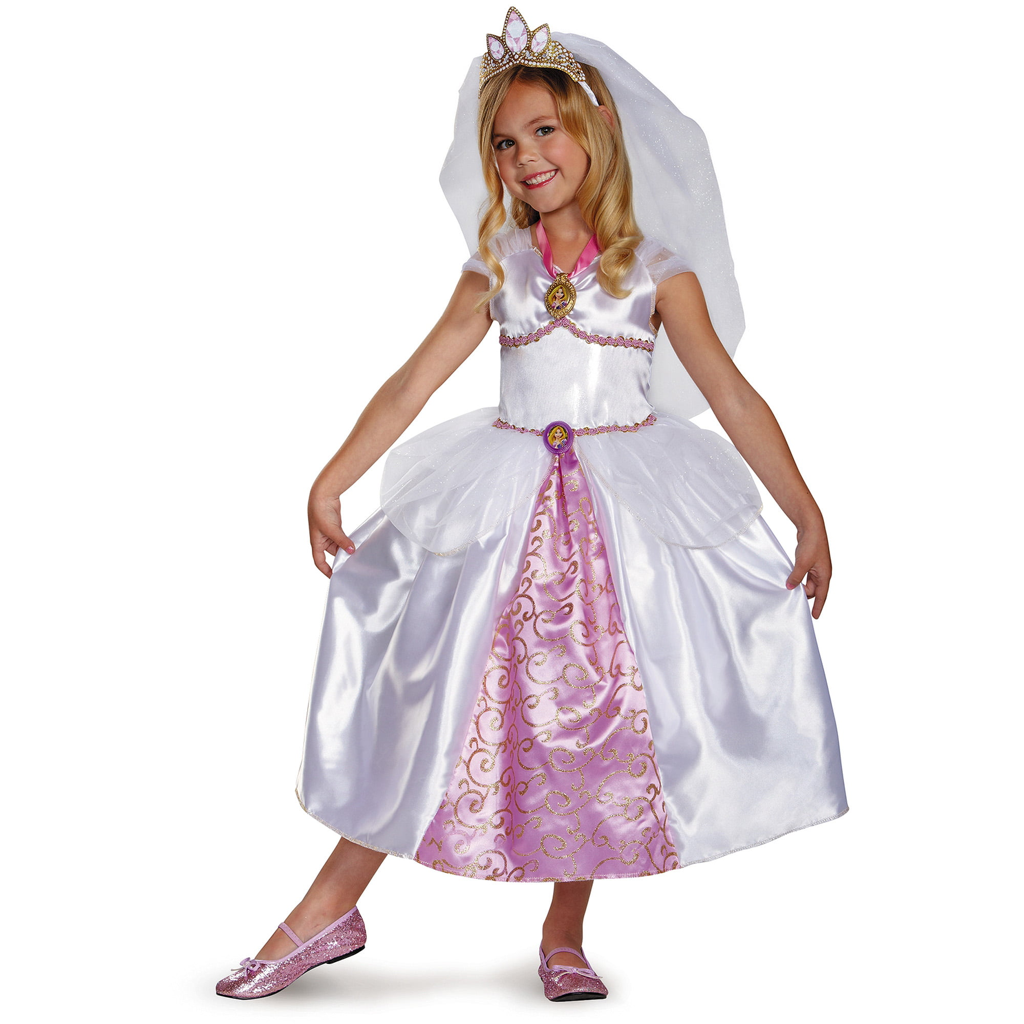 rapunzel wedding gown child halloween costume - walmart