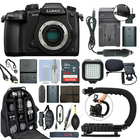 Panasonic Lumix DMC-GH5 20.3 MP 4K Digital Camera Body + 64GB Pro Video