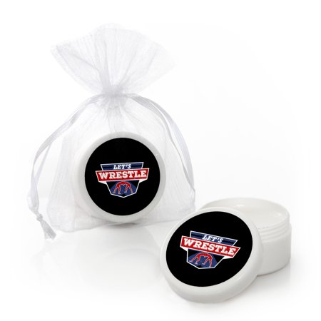 Own The Mat - Wrestling - Lip Balm Birthday Party or Wrestler Party Favors (Set of 12)