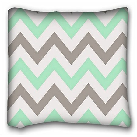 WinHome Chevron Gradient Wave Tribal Striped Geometric Pillowcase Throw Cushion Pillow Case Cover Anchor Light Blue Coral Teal Pink Mint Green Turquoise Aqua Grey Beige For Home Sofa Size 20x20 Inches (Blue Green New Wave)