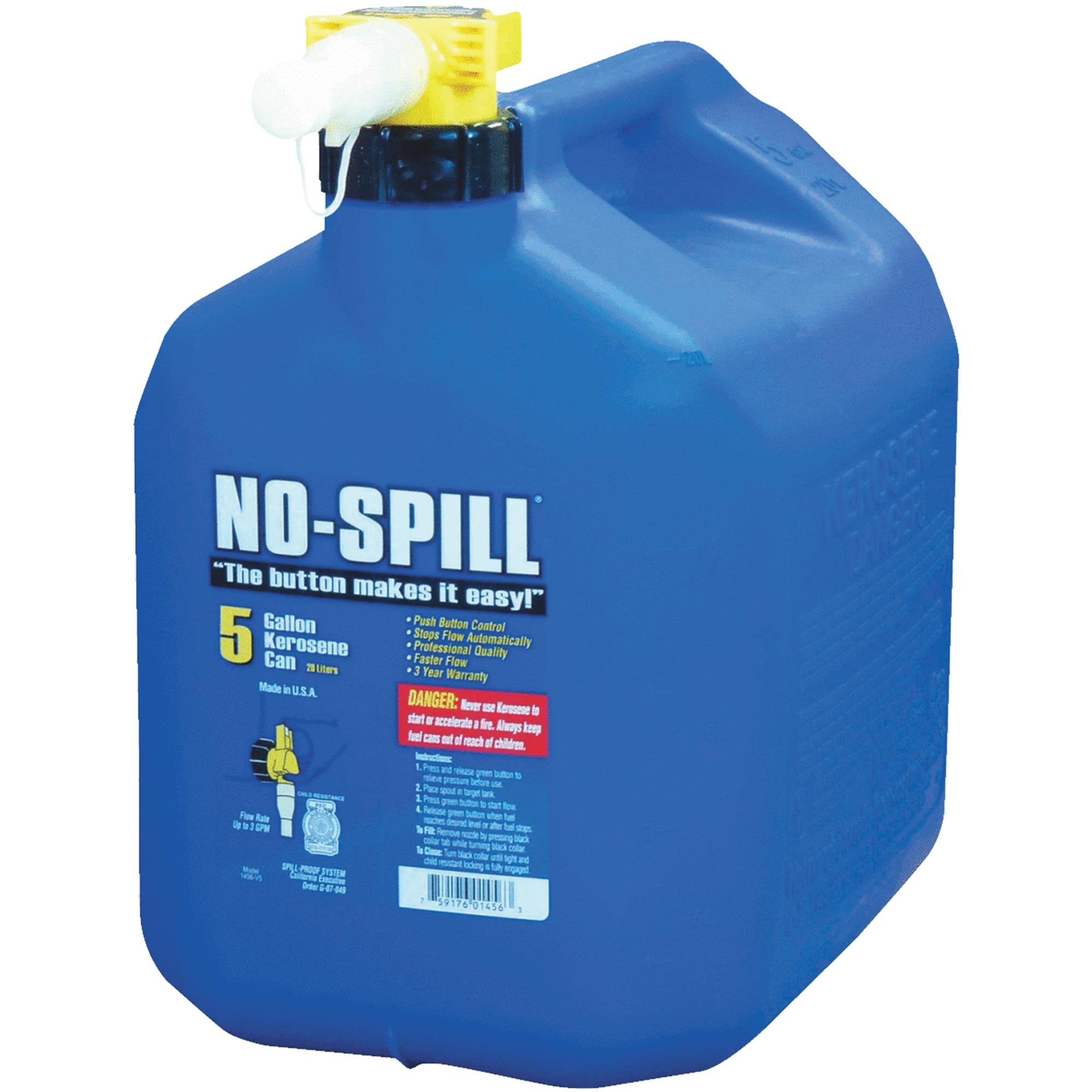 No-Spill Fuel Can