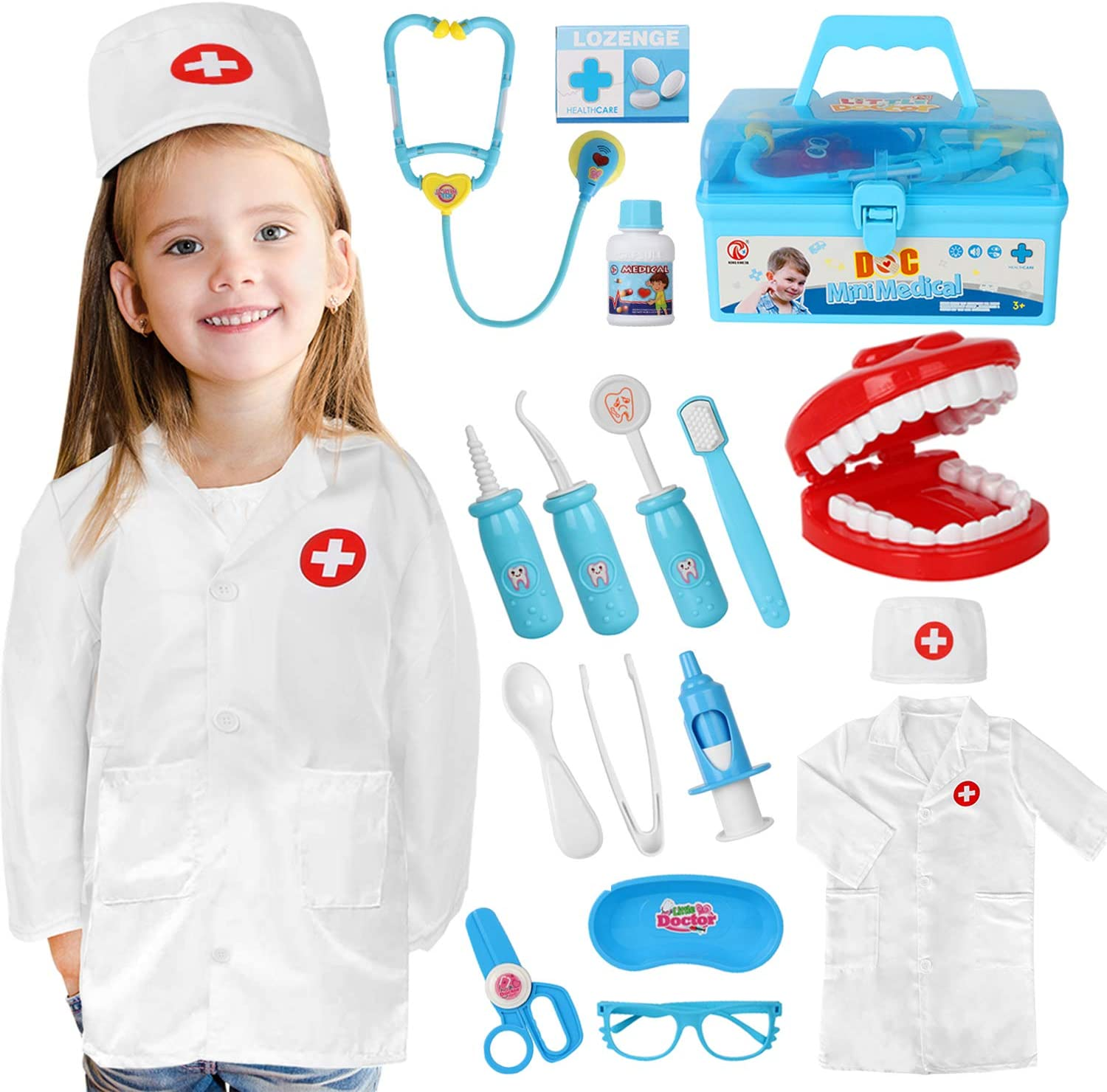 Dress Up Medical Pretend Play Brainy Doctor Childrens Halloween Costume