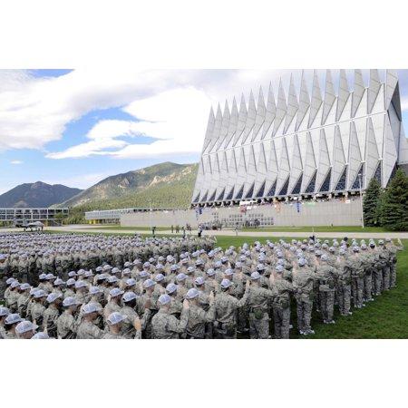 Cadets Recite The Oath Of Allegiance Canvas Art   Stocktrek Images  34 X 23