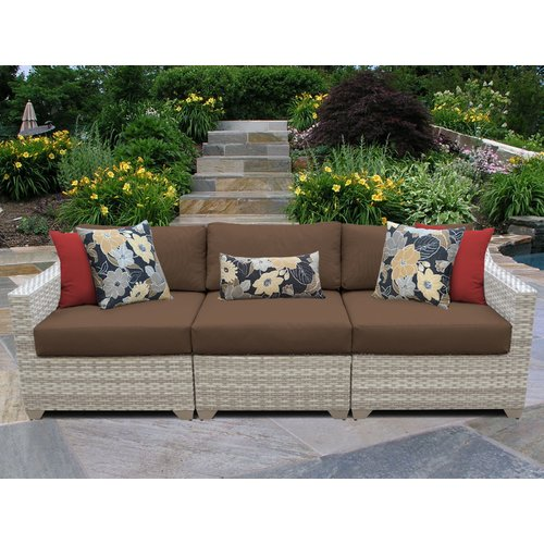 TK Classics Fairmont Left/Right Armless Sectional Piece with Cushions