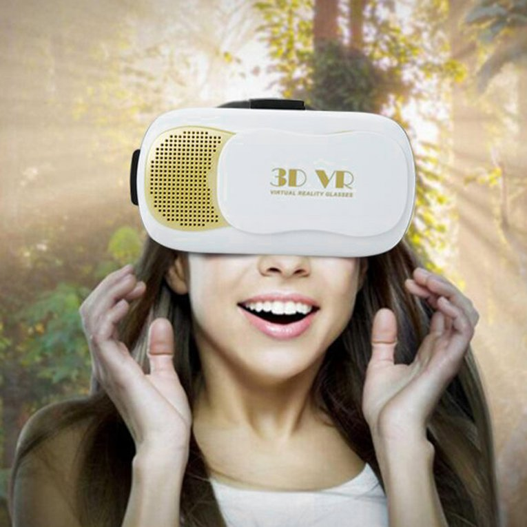 "Hot Sale New Head-Mount Virtual Reality 3D VR Glasses Headset for Samsung 4""-6.5"