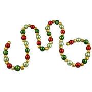Northlight Seasonal Shatterproof Christmas Ball Garland with Unlit