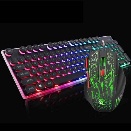 J40 Gaming Keyboard and Mouse Combo, TSV Gaming Mouse and Keyboard,Wired Keyboard with RGB Backlit Back Lights and Mouse with 5 Adjustable DPI for Gaming / E-Sport /