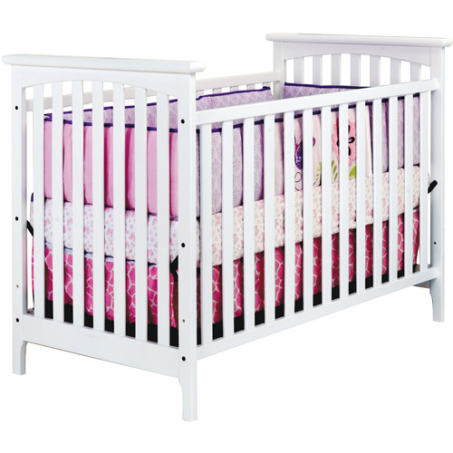 Child Craft Monterey 3-in-1 Stationary Fixed-Side Crib, Matte White