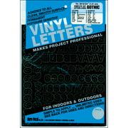 "Permanent Adhesive Vinyl Letters & Numbers .75"" 302/Pkg-Black"