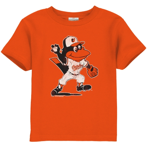 Baltimore Orioles Toddler Distressed Mascot Logo T-Shirt - Orange