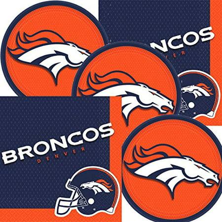 Napkins And Plates (Denver Broncos NFL Football Team Logo Plates And Napkins Serves)