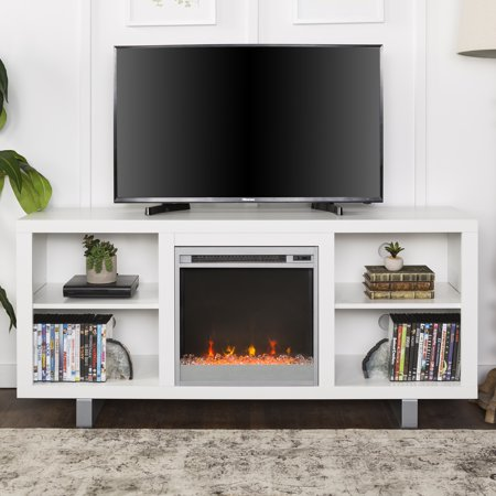 Park Place Two Light - Manor Park Modern Fireplace TV Stand for TV's up to 64