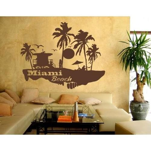 Style And Apply Miami Beach Wall Decal Walmartcom