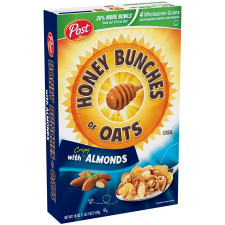 Post  Honey Bunches Of Oats  With Crispy Almonds Cereal 18 Oz  Box