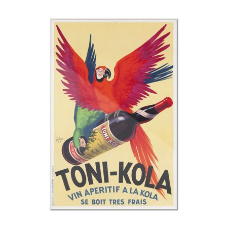 Toni - Kola Vintage Poster (artist: Robys) France c. 1935 (8x12 Acrylic Wall Art Gallery (Toni Tierney Boutique)