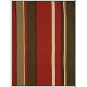 Antigua Arm Chair in Royal Oak-Fabric:Green & Red Stripes