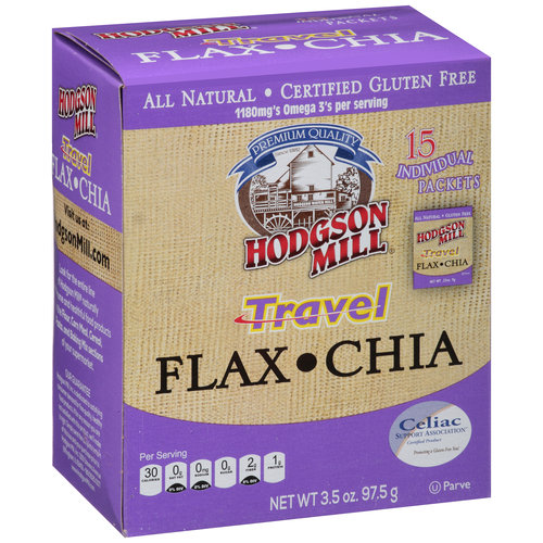 Hodgson Mill Travel Flax Chia, 15 count, 3.5 oz
