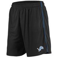 Men's Majestic Black Detroit Lions Mesh Shorts