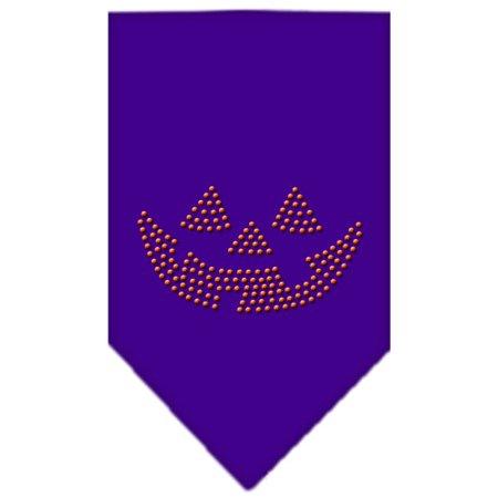 Jack O Lantern Rhinestone Bandana Purple Small