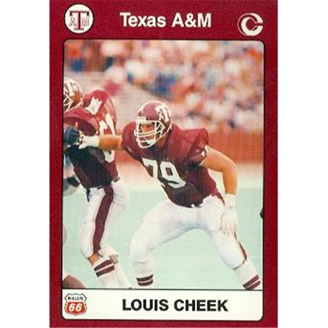 Louis Cheek Football Card (Texas A&M) 1991 Collegiate Collection No.68