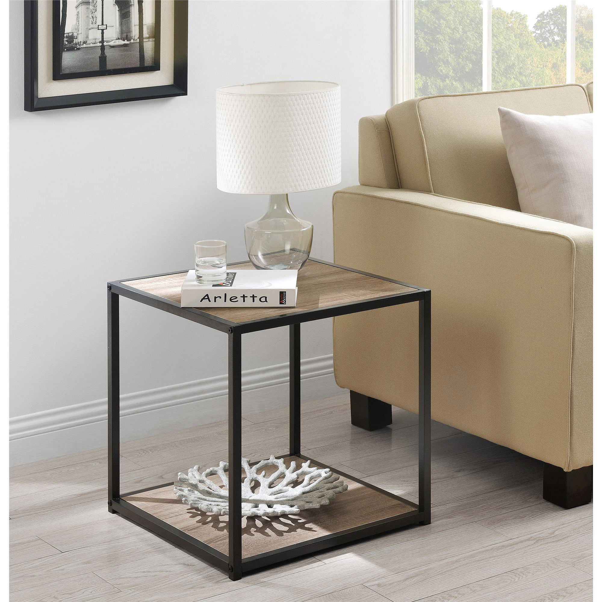 Ameriwood Home Canton Accent Table With Metal Frame Multiple Colors Walmart Com