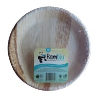 100 PC, Bamblu Home Compostable Designer Tableware, 10 inch Round Palm Leaf Plate, LCP-10-CS