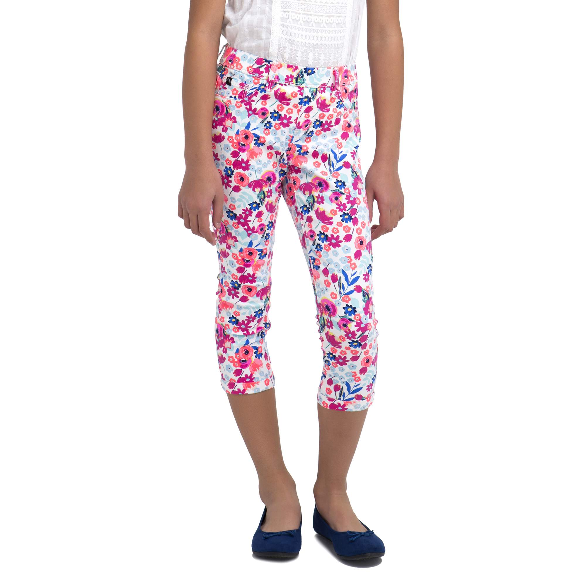 Girls' Floral Print Crop Jegging