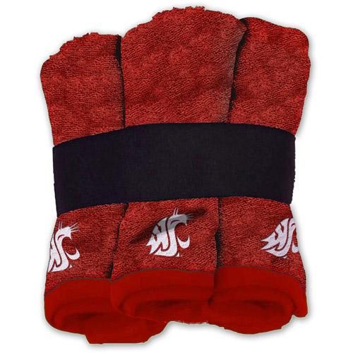 NCAA Washington State Cougars Wash Cloth Set, 6pk