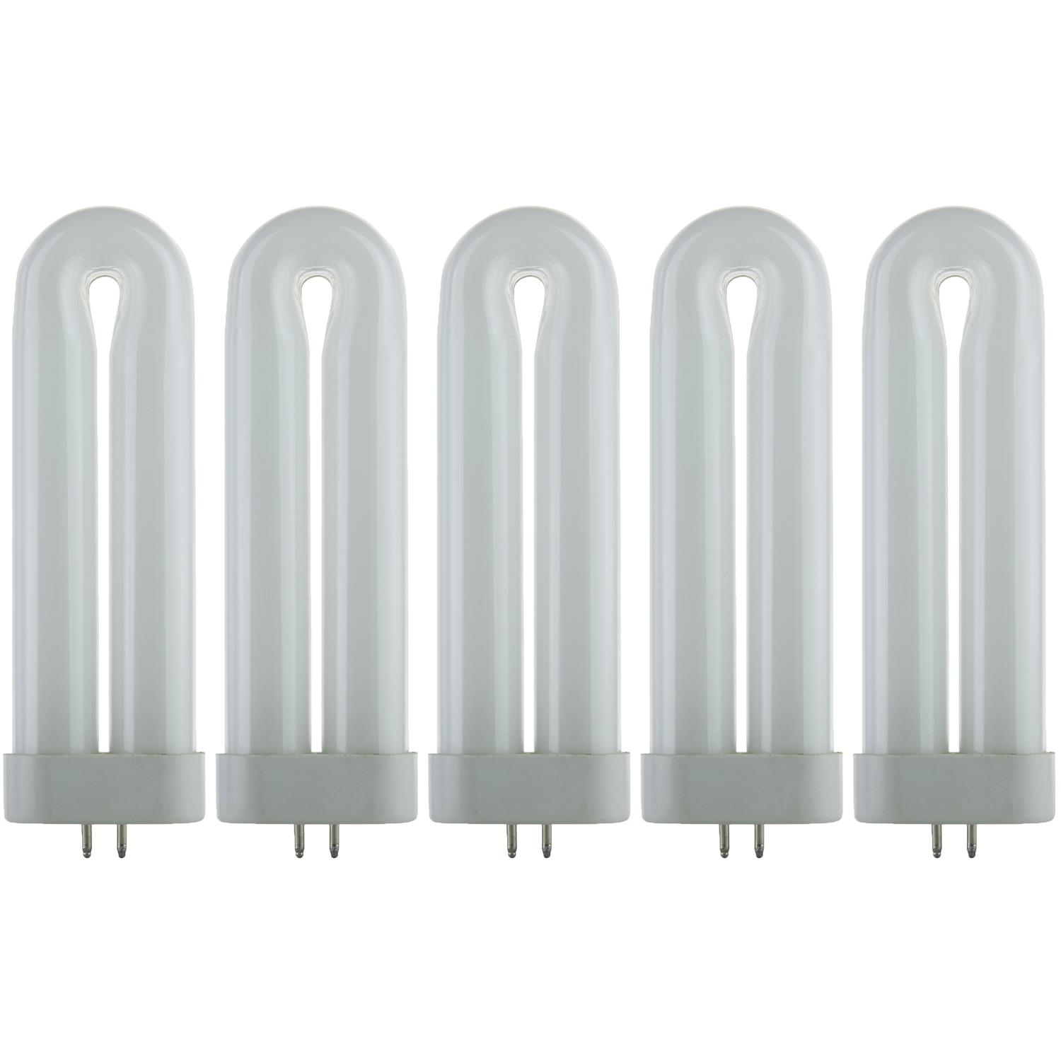 Pack of 5 Sunlite 8 W FUL 4Pin Single UShaped Twin Tube G...